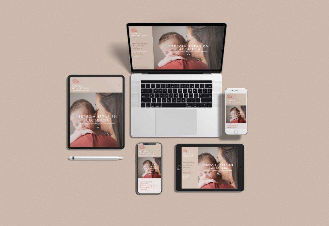 Diseño web para La Clínica de la Lactancia