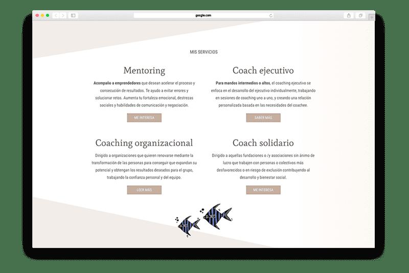 diseno web marca personal coaching