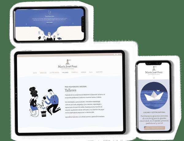 diseño página web marca personal coaching